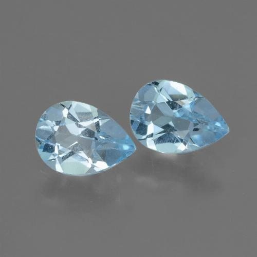 Swiss Blue Topaz Gem - 0.8ct Pear Facet (ID: 433319)