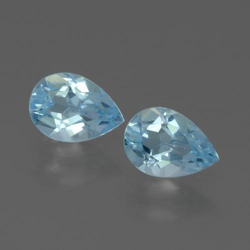 Swiss Blue Topaz Gem - 0.8ct Pear Facet (ID: 433362)