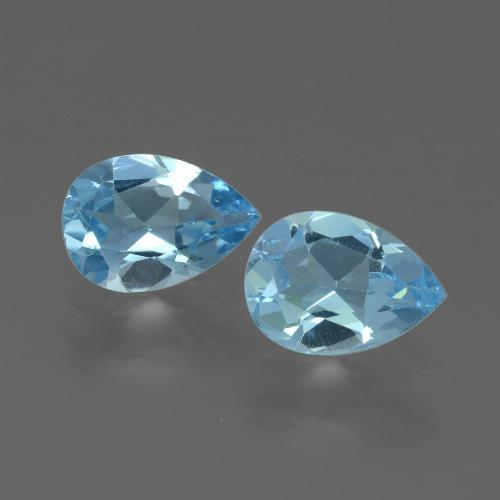 Swiss Blue Topaz Gem - 0.8ct Pear Facet (ID: 433365)