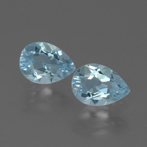 Baby Blue Topaz Gem - 0.9ct Pear Facet (ID: 433370)