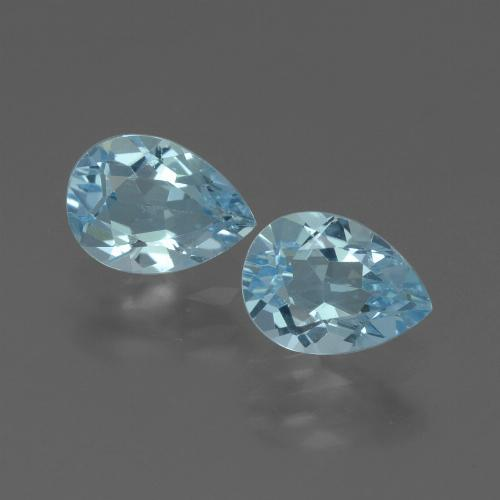 Baby Blue Topaz Gem - 0.9ct Pear Facet (ID: 433374)