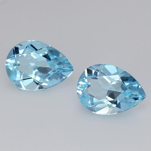 Swiss Blue Topaz Gem - 0.9ct Pear Facet (ID: 433376)