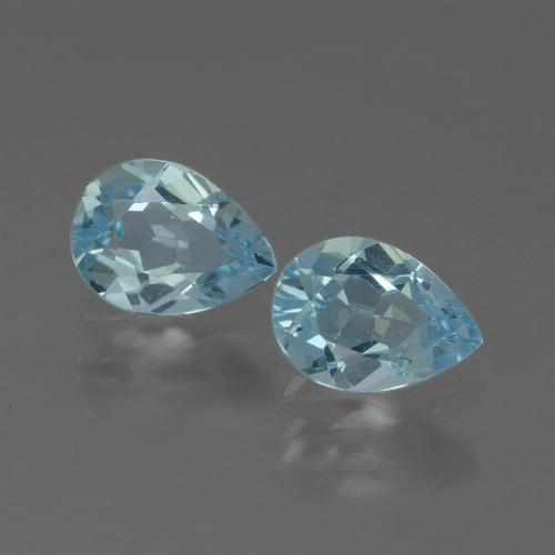 Baby Blue Topaz Gem - 0.9ct Pear Facet (ID: 433380)