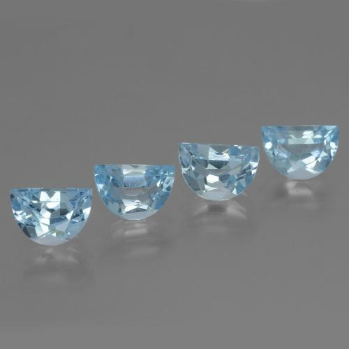 Swiss Blue Topaz Gem - 1ct Fancy Facet (ID: 433384)