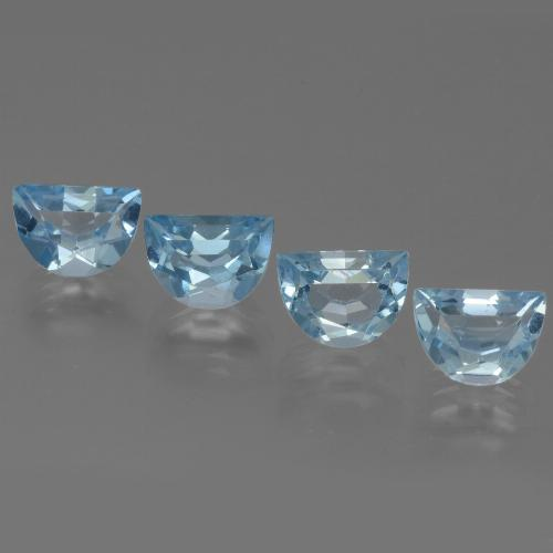 Swiss Blue Topaz Gem - 1.1ct Fancy Facet (ID: 433391)