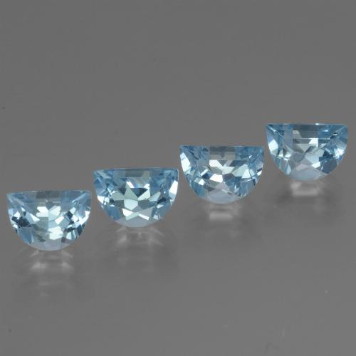 Swiss Blue Topaz Gem - 1ct Fancy Facet (ID: 433392)