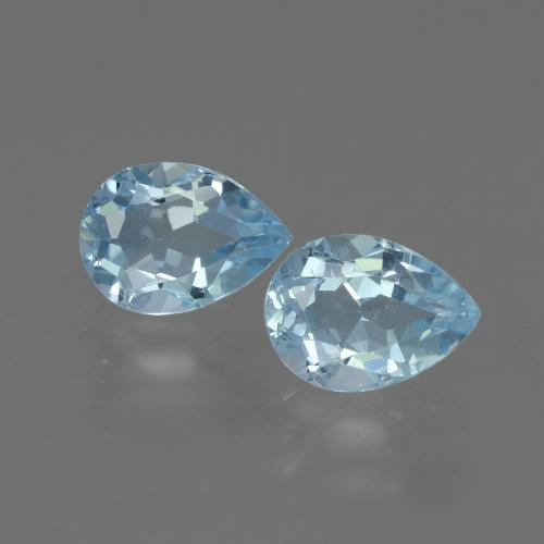 Swiss Blue Topaz Gem - 0.9ct Pear Facet (ID: 433419)