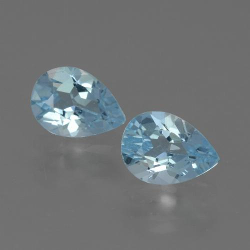 Baby Blue Topaz Gem - 0.9ct Pear Facet (ID: 433427)