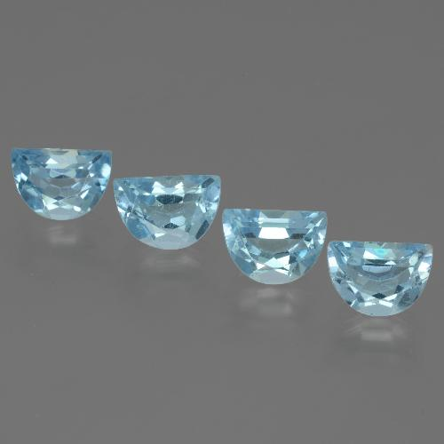 Swiss Blue Topaz Gem - 1ct Fancy Facet (ID: 433444)