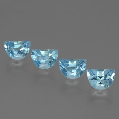 Swiss Blue Topaz Gem - 1.1ct Fancy Facet (ID: 433450)