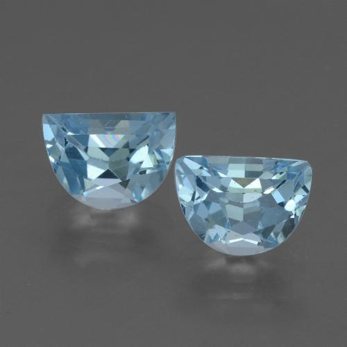 Light Maya Blue Topacio Gema - 1.1ct Una Faceta Elegante (ID: 433465)