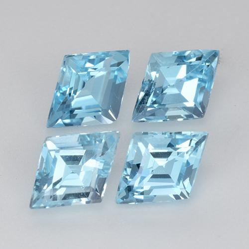Swiss Blue Topaz Gem - 0.6ct Rhomb Facet (ID: 434269)