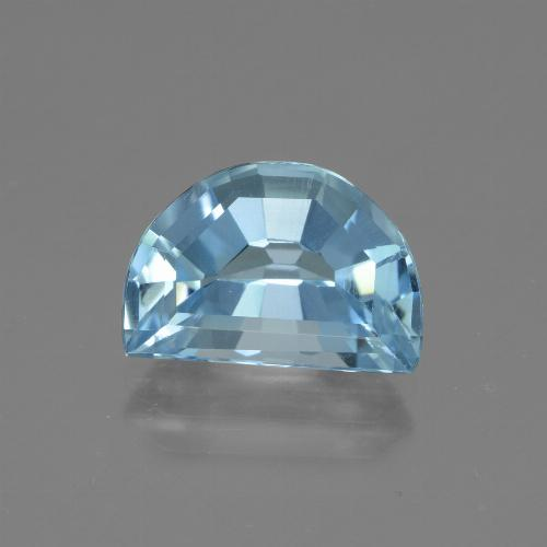 Swiss Blue Topaz Gem - 4.9ct Half Moon Facet-Cut (ID: 434315)
