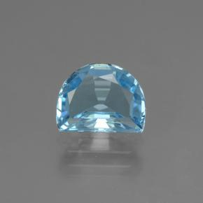 Swiss Blue Topaz Gem - 2.6ct Half Moon Facet-Cut (ID: 434377)