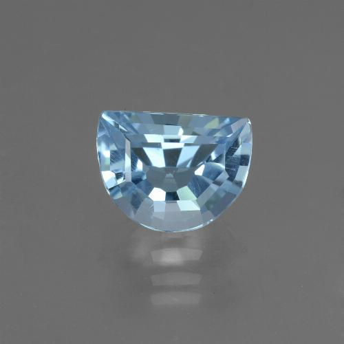 Swiss Blue Topaz Gem - 2.4ct Half Moon Facet-Cut (ID: 434378)