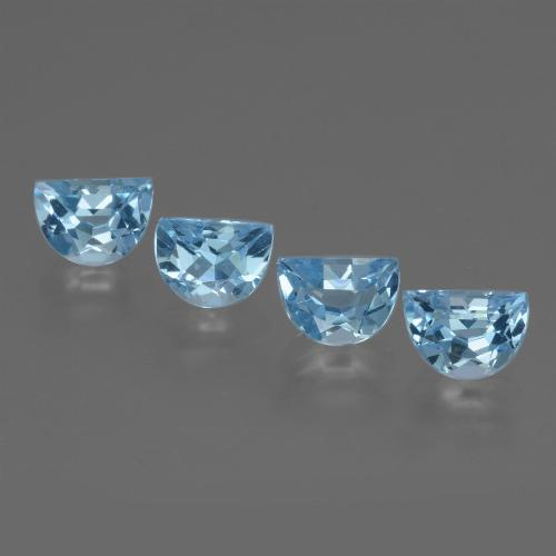 Swiss Blue Topaz Gem - 1ct Fancy Facet (ID: 434411)