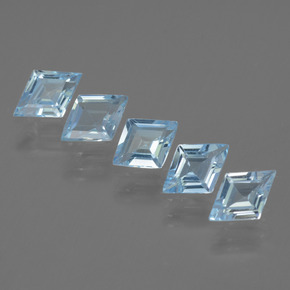 Light Blue Topaz Gem - 0.5ct Rhomb Facet (ID: 434638)