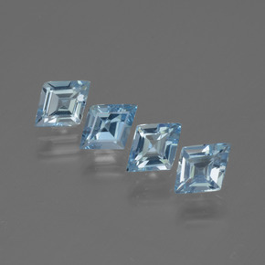 Swiss Blue Topaz Gem - 0.5ct Rhomb Facet (ID: 434645)