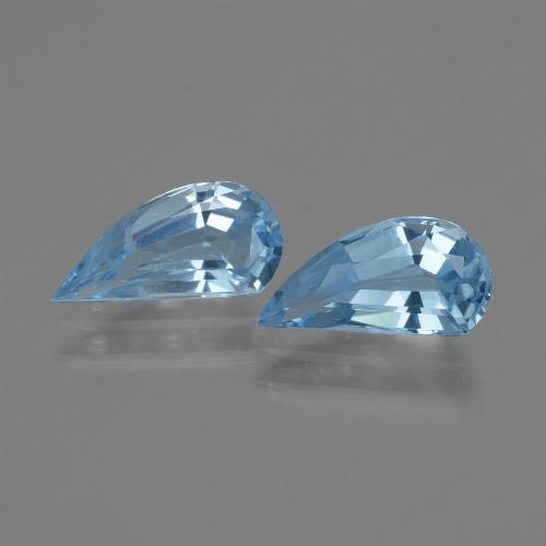 Deep Maya Blue Topaz Gem - 1.2ct Fancy Facet (ID: 436057)