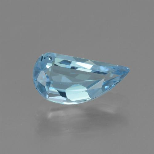 Swiss Blue Topaz Gem - 1.4ct Half Heart Facet (ID: 436656)