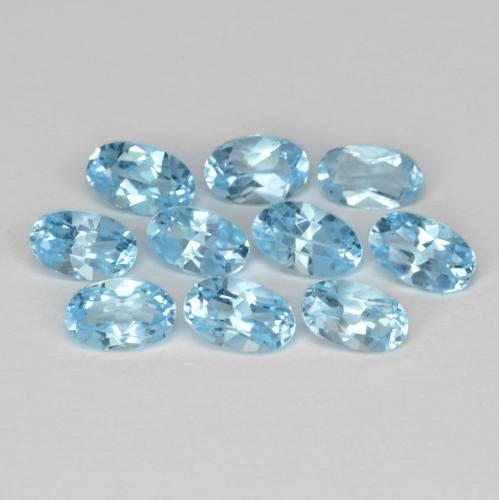Swiss Blue Topaz Gem - 0.3ct Oval Facet (ID: 436874)