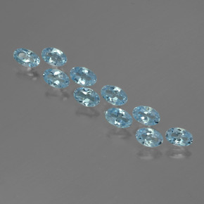 Swiss Blue Topaz Gem - 0.3ct Oval Facet (ID: 436875)