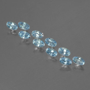 Swiss Blue Topaz Gem - 0.3ct Oval Facet (ID: 436877)