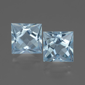 Sky Blue Topaz Gem - 3.2ct Princess-Cut (ID: 436920)