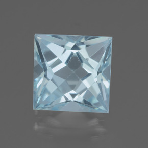 thumb image of 3.2ct Princess-Cut Sky Blue Topaz (ID: 436927)
