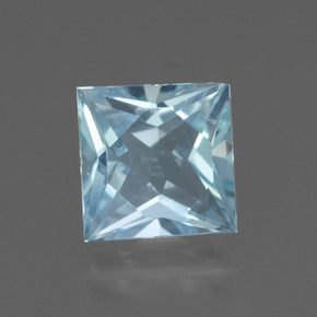 Sky Blue Topaz Gem - 2.6ct Princess-Cut (ID: 436928)