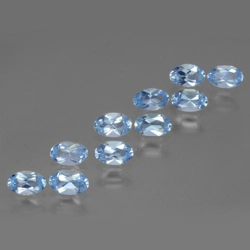 Swiss Blue Topaz Gem - 0.3ct Oval Facet (ID: 437020)