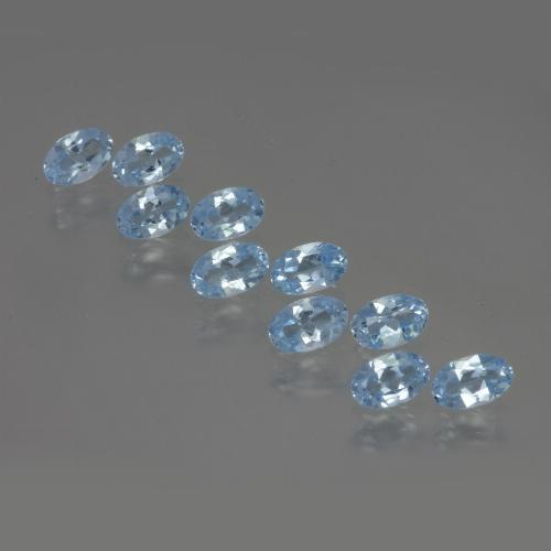 thumb image of 0.3ct Oval Facet Swiss Blue Topaz (ID: 437021)
