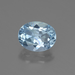 Sky Blue Topaz Gem - 2.3ct Oval Facet (ID: 437054)