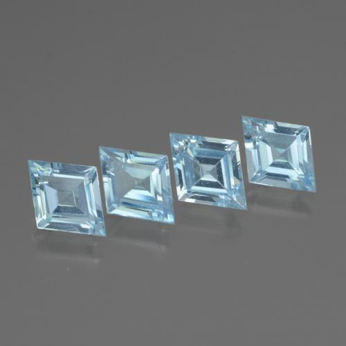 Swiss Blue Topaz Gem - 1.1ct Rhomb Facet (ID: 437102)