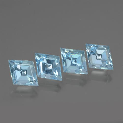 Maya Blue Topaz Gem - 1.3ct Rhomb Facet (ID: 437103)