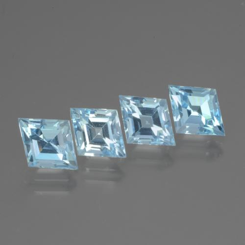 Sky Blue Topaz Gem - 1.3ct Rhomb Facet (ID: 437107)