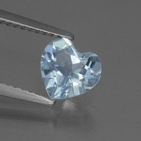 thumb image of 1.2ct Heart Facet Sky Blue Topaz (ID: 437138)