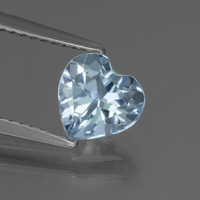 thumb image of 1.3ct Heart Facet Sky Blue Topaz (ID: 437142)