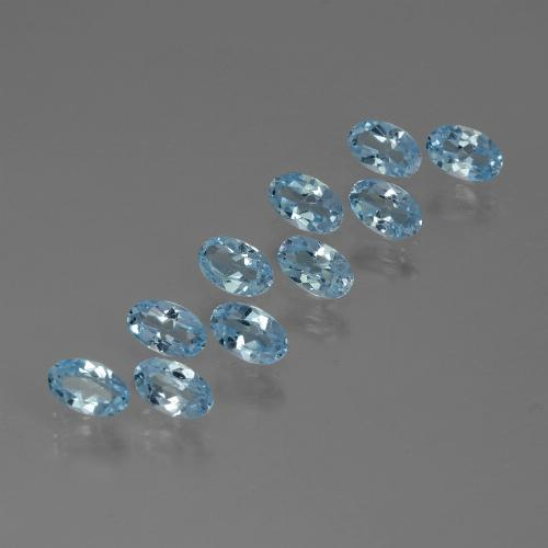 Swiss Blue Topaz Gem - 0.3ct Oval Facet (ID: 437161)