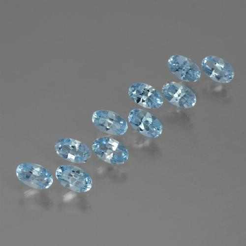 Swiss Blue Topaz Gem - 0.3ct Oval Facet (ID: 437168)