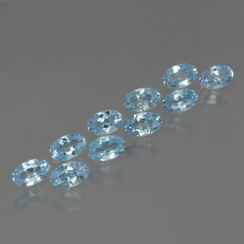 Swiss Blue Topaz Gem - 0.4ct Oval Facet (ID: 437304)