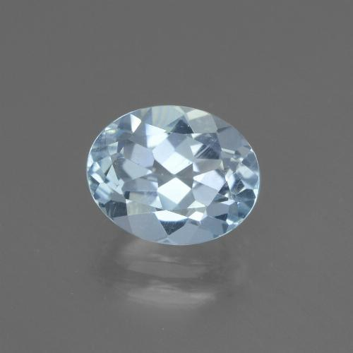 Sky Blue Topaz Gem - 2.2ct Oval Facet (ID: 437353)