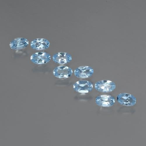 Swiss Blue Topaz Gem - 0.3ct Oval Facet (ID: 437386)