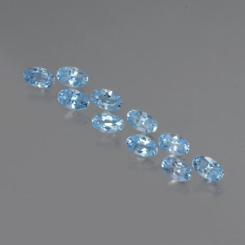 Sky Blue Topaz Gem - 0.3ct Oval Facet (ID: 437396)