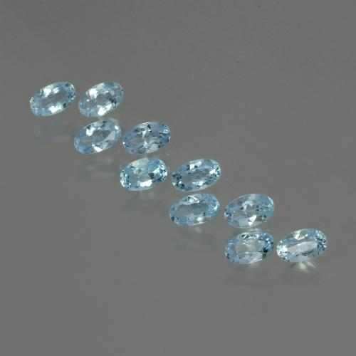 Swiss Blue Topaz Gem - 0.3ct Oval Facet (ID: 437485)