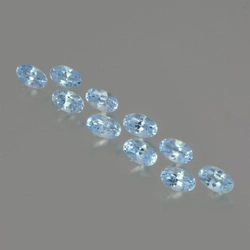 Swiss Blue Topaz Gem - 0.3ct Oval Facet (ID: 437486)