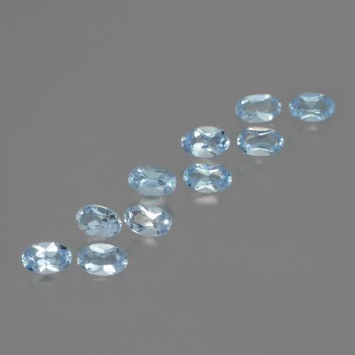 Swiss Blue Topaz Gem - 0.3ct Oval Facet (ID: 437493)