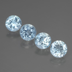 Sky Blue Topaz Gem - 1.1ct Round Facet (ID: 437600)