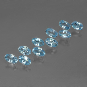 Swiss Blue Topaz Gem - 0.3ct Oval Facet (ID: 437630)
