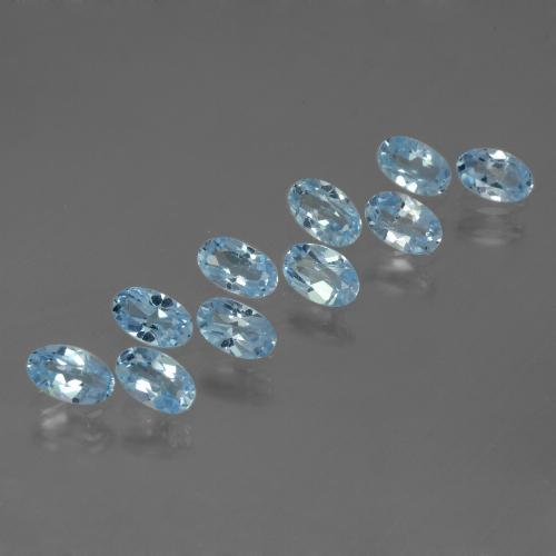 Baby Blue Topaz Gem - 0.3ct Oval Facet (ID: 437633)